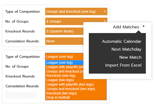Make schedules, draws for tournaments & leagues   Competize