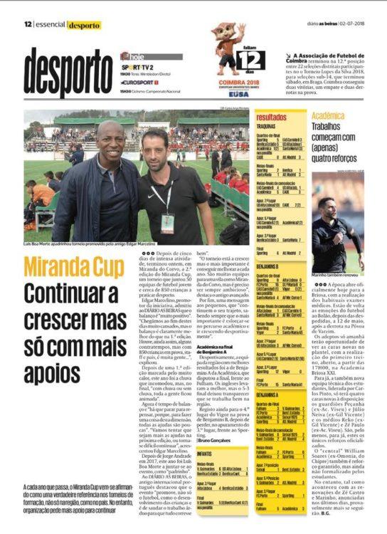 Torneo futbol base Miranda Cup prensa