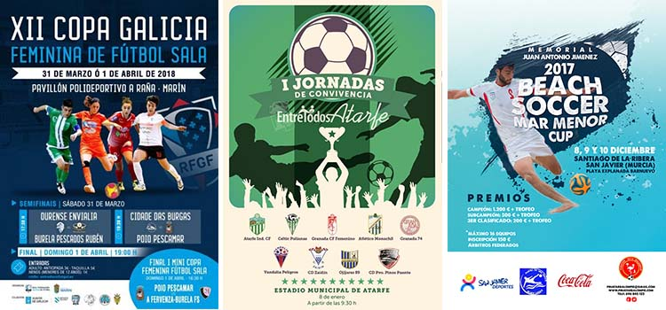 Crear cartel de torneo de fútbol