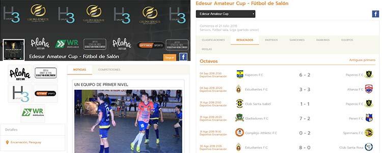 Crear página web de torneo de fútbol