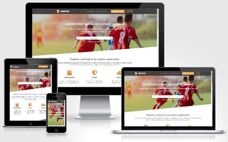 Crear torneos online con web responsive