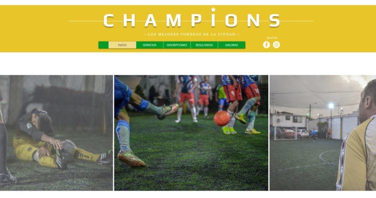Ligas y torneos de fútbol cómo Champions de Medellín