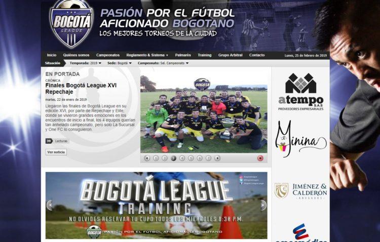 Torneos de fútbol en Colombia como la Bogotá League