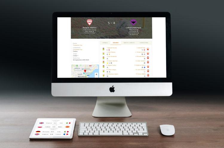 Diseño y desarrollo web para eventos deportivos - torneos, ligas