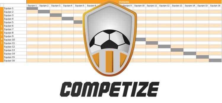 Plantilla para crear tabla de posiciones en Excel con Competize