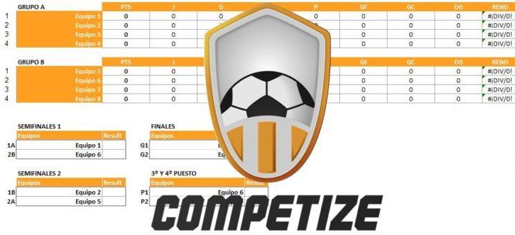 Plantilla Excel para torneos de 8 equipos