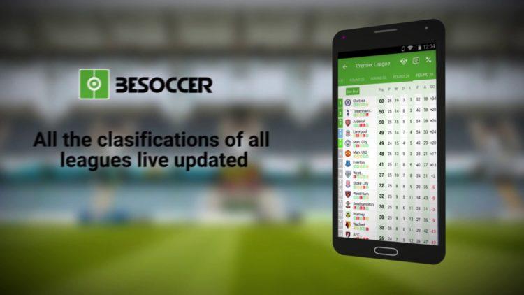 BeSoccer, resultados de fútbol en directo