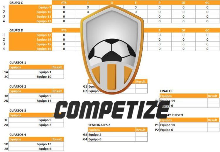 plantilla excel para torneos de 16 equipos