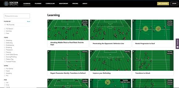 Soccer Specific, aplicaciones para entrenadores de fútbol