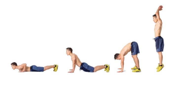 Burpees activación del metabolismo con ejercicios para futbolistas