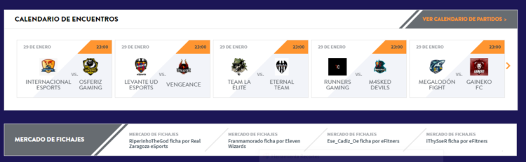 VFO liga de fútbol FIFA20 competición profesional