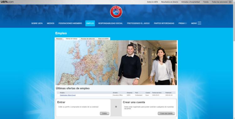 UEFA ofertas de empleo del mundo deportivo