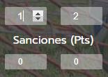 Gestionar goles, puntos, sanciones y penalti