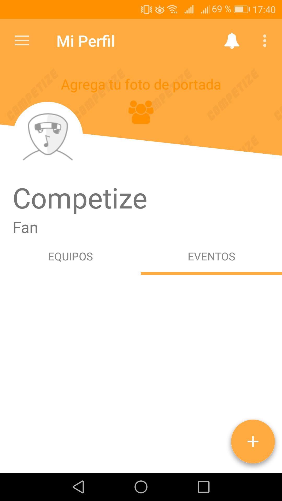 Torneos favoritos en app móvil