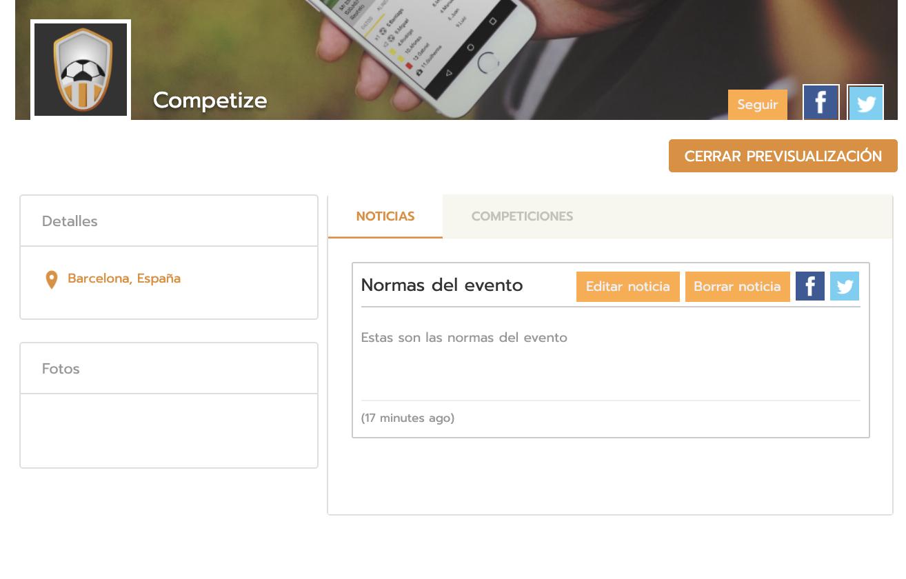 Public profile of the sports event