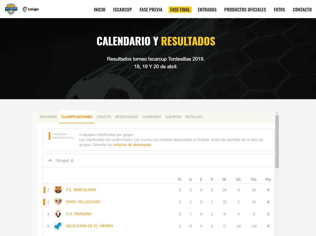 Create a league website