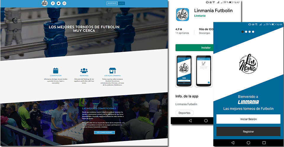 Web and mobile app development for Linmania