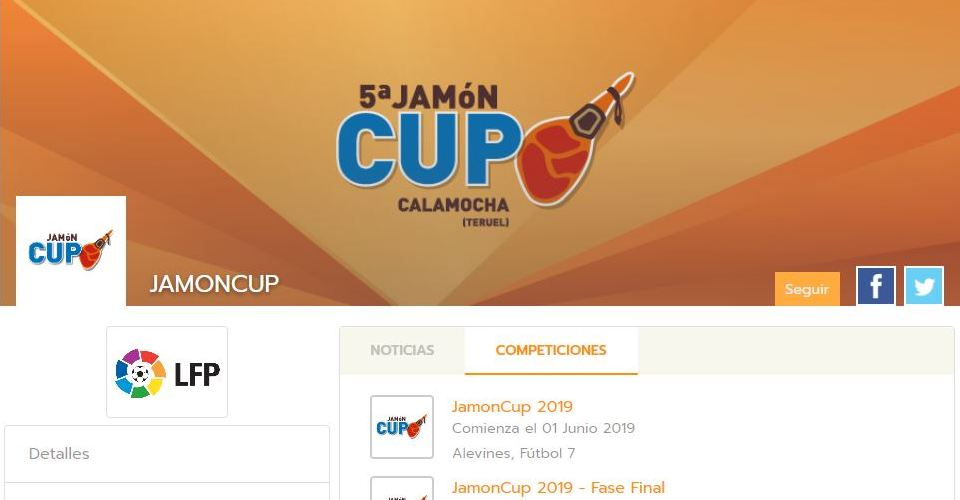 Jamón Cup organises its tournament with Competize league management software and mobile apps