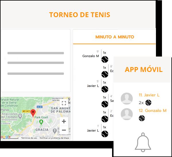 Software para crear campeonatos de tenis y pádel