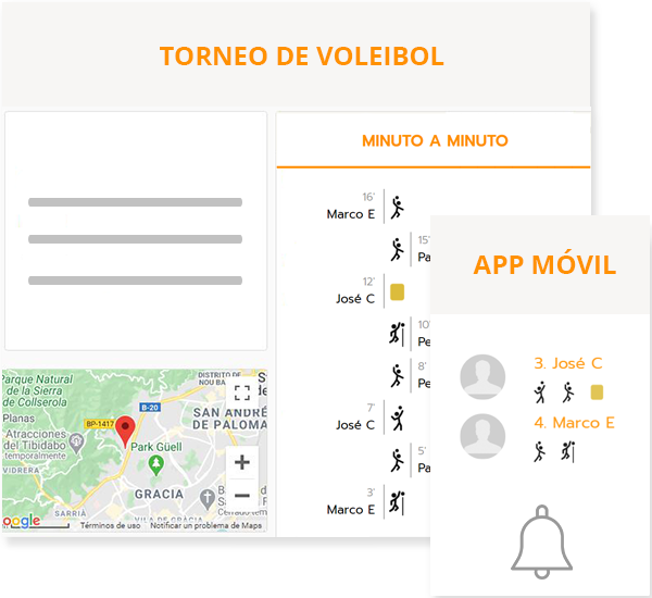 Organize volleyball leagues with online registrations